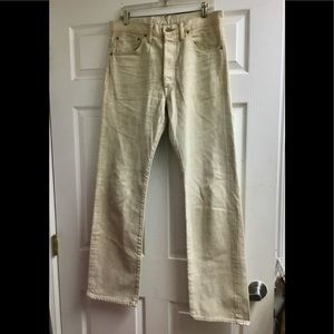 RRL Ralph Lauren men's off white jeans size 32x35